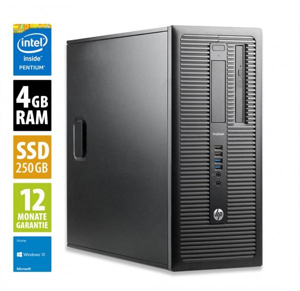 HP ProDesk 600 G1 MT - Pentium G3440 @ 3,3 GHz - 4GB RAM - 250GB SSD - DVD-RW - Win10Home