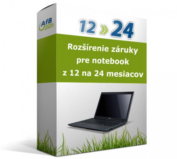 Rozšírenie záruky pre notebook z 12 na 24 mesiacov
