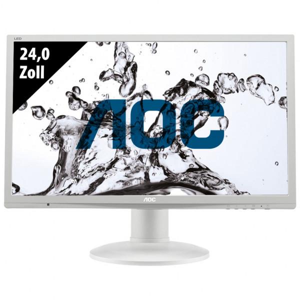 AOC E2460PQ - 24,0 Zoll - FHD (1920x1080) - 2ms - weiß