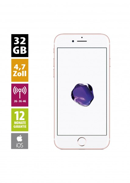 Apple iPhone 7 (32GB) - Rose Gold