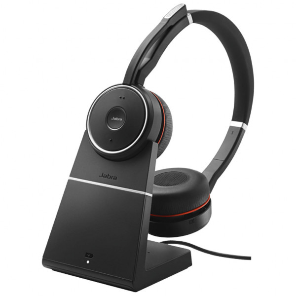 Jabra Evolve 75 - USB - Stereo - Headset - On-Ear - kabellos + Ladestation