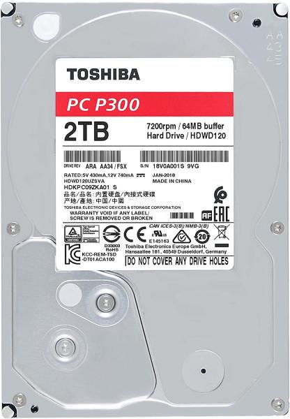 Toshiba P300 - HDD - Interný - 3,5 palca - SATA - 2TB