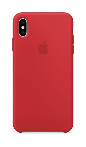 Apple Silikónový Kryt (iPhone XS Max) - Červený