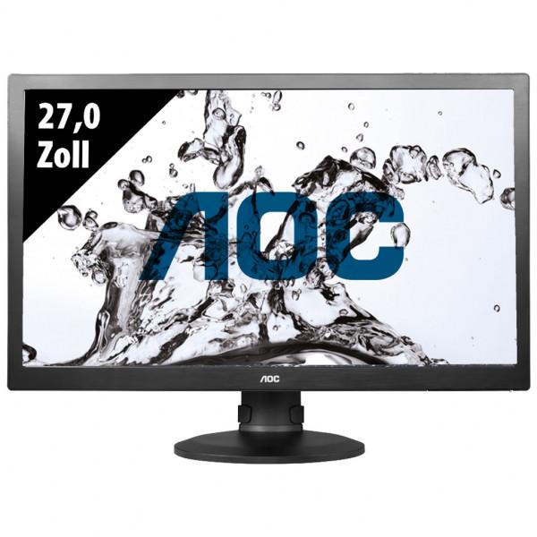 AOC E2770PQU - 27,0 Zoll - FHD (1920x1080) - 2ms - schwarz