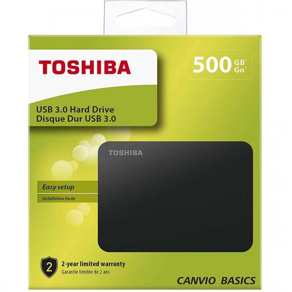 Toshiba Canvio Basics - HDD - Externý - 2,5 palca - USB 3.0 - 500GB
