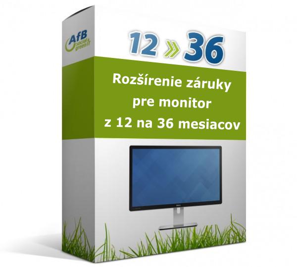 Rozšírenie záruky pre monitor z 12 na 36 mesiacov