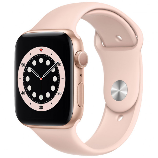 Apple Watch Series 6 (GPS) 44 mm - OLED - Touchscreen - 32 GB - Gold / Sand-pink