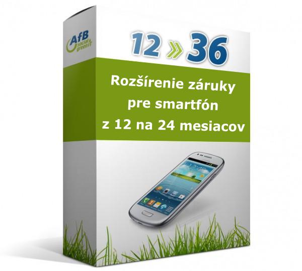 Rozšírenie záruky pre smartfón z 12 na 36 mesiacov