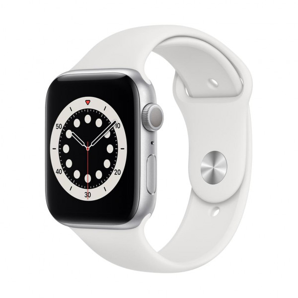 Apple Watch Series 6 (GPS) 44 mm - OLED - Touchscreen - 32 GB - Silver-White
