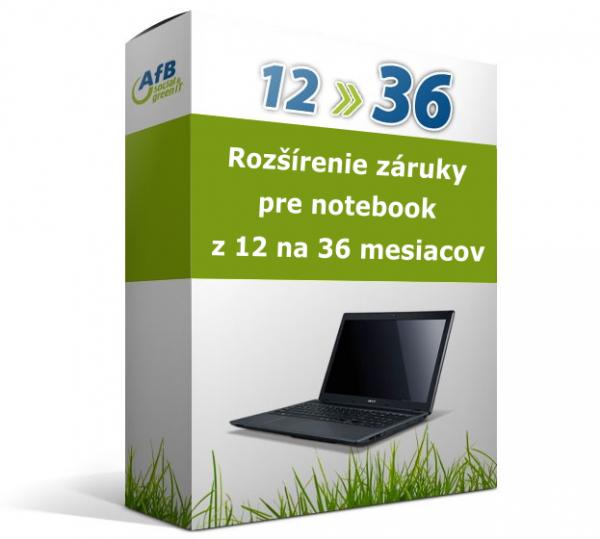 Rozšírenie záruky pre notebook z 12 na 36 mesiacov