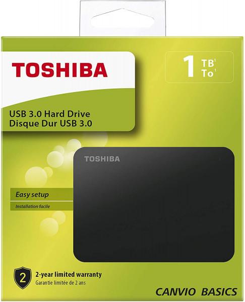 Toshiba Canvio Basics - HDD - Externý - 2,5 palca - USB 3.0 - 1 TB