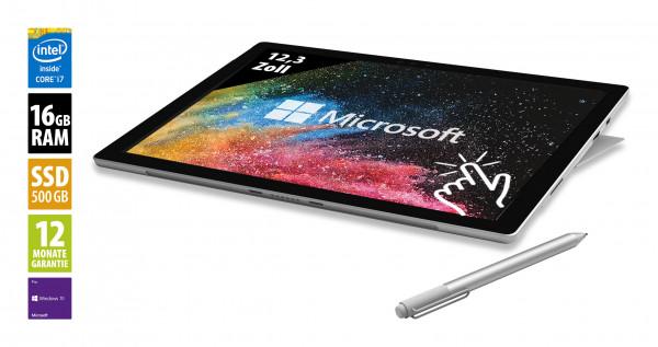 Microsoft Surface Pro (2017) - 12,3 Zoll - Core i7-7660U @ 2,5 GHz - 16GB RAM - 500GB SSD - (2736x1824) - Touch - Win10Pro