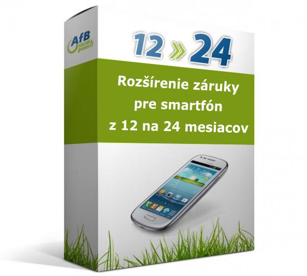Rozšírenie záruky pre smartfón z 12 na 24 mesiacov